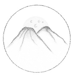 dotwork mountains for your design vector image