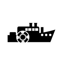 ship and life preserver icon vector image