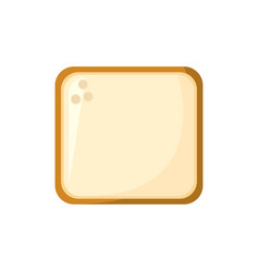 slice bread food bakery ingredient vector image