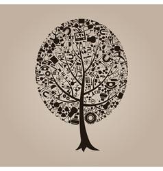 Tree a science vector image vector image