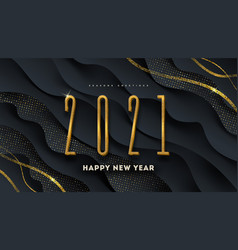 2021 new year greeting design vector image