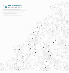 abstract hexagonal geometric technology pattern vector image
