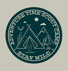Adventure time stay wild vector