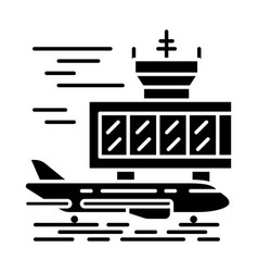 Airport outside glyph icon vector