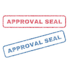 Approval seal textile stamps vector