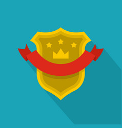 badge quality icon flat style vector image