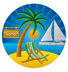 beach travel vector image