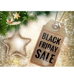 Black Friday sale price tag EPS 10 vector image