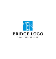 bridge logo design vector image