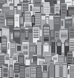 Buildings In The City Pattern Background vector