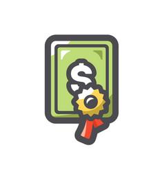 certificate license blank icon cartoon vector image