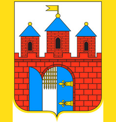 Coat of arms of bydgoszcz in kuyavian-pomeranian vector