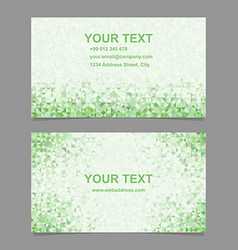 Color triangle mosaic business card template vector