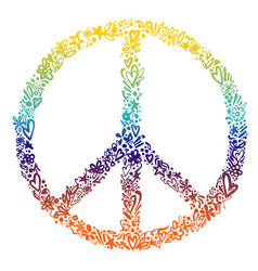 colorful peace symbol vector image