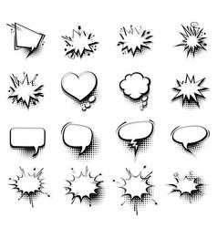 Comic empty text speech bubble 20 vector