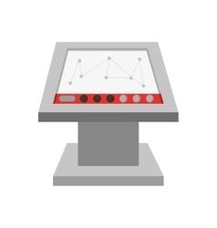 Computer factory screen operating vector