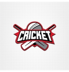 Cricket sport logo with vector