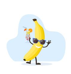 cute and funny banana character vector image