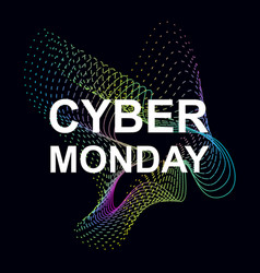 cyber monday sale promotional banner vector image