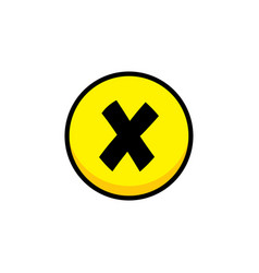 Decline cross video game asset menu icon button vector