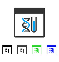Dna analysis calendar page flat icon vector