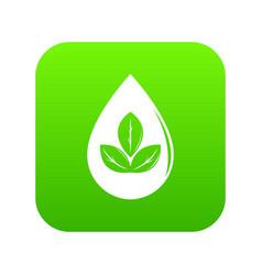 drop eco icon green vector image