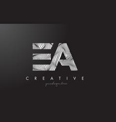 Ea e a letter logo with zebra lines texture vector