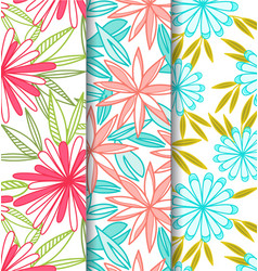 Elegant-flower-seamless patterns vector