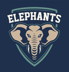 elephant mascot sport emblem design vector image