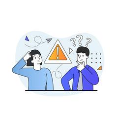 Error or warning concept vector