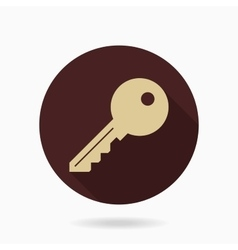 Fine Key Flat Icon vector