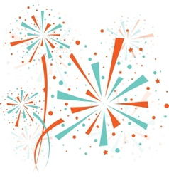 Firework color vector image