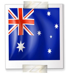 flag of australia on square paper vector image