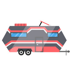flat classic camper trailer recreational vector image