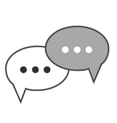flat design conversation bubbles icon vector image