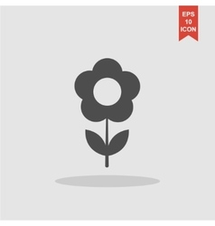 flower icon Flat design style vector image