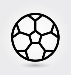 football icon soccer ball icon sports ball symbol vector image