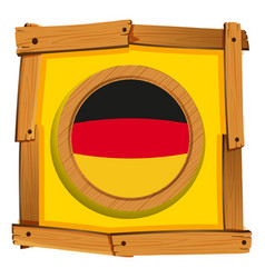 germany flag on square frame vector image