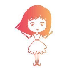 girly fairy without wings and short hair in vector image