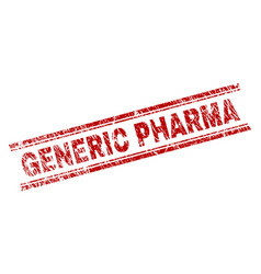 Grunge textured generic pharma stamp seal vector