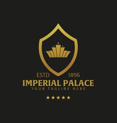Imperial palace hotel logo and emblem logo vector