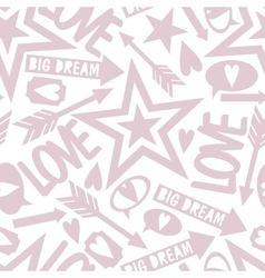 Inscription love big dream vector