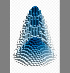 Isometric pattern vector