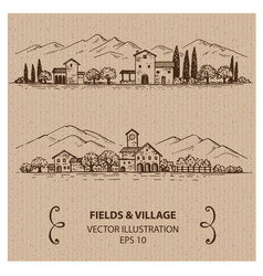 Italian village vector