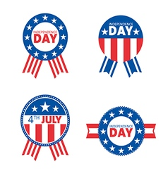 label and tag set independence day 4th july vector image