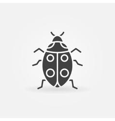 Ladybug icon or logo vector