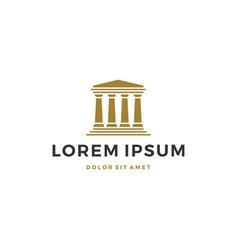 Law pillar logo icon vector