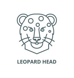 leopard head line icon linear concept vector image