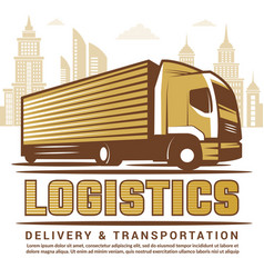 logistics background stylized vector image