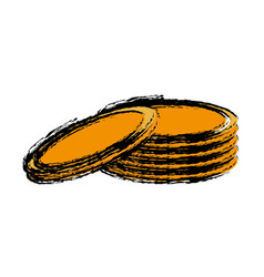 Money coins icon vector
